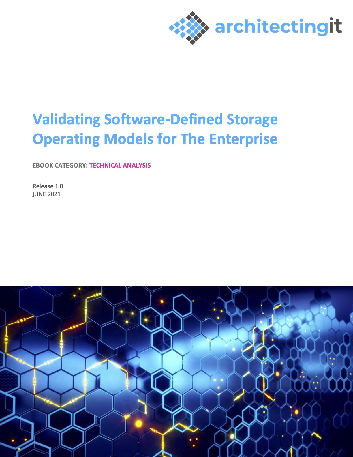 Validating Software-Defined Storage Operating Models for the Enterprise